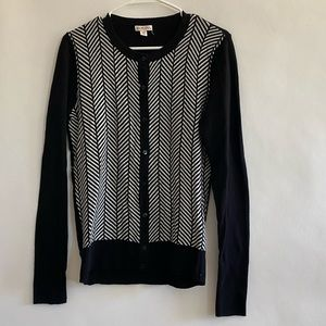 Black and white cardigan size small women